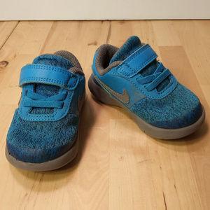 Nike Boy Toddler Flex Contact Shoes 5C Blue/Gray